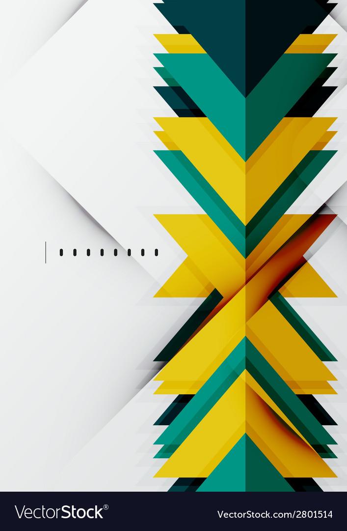 Futuristic geometric shapes minimal design vector | Price: 1 Credit (USD $1)