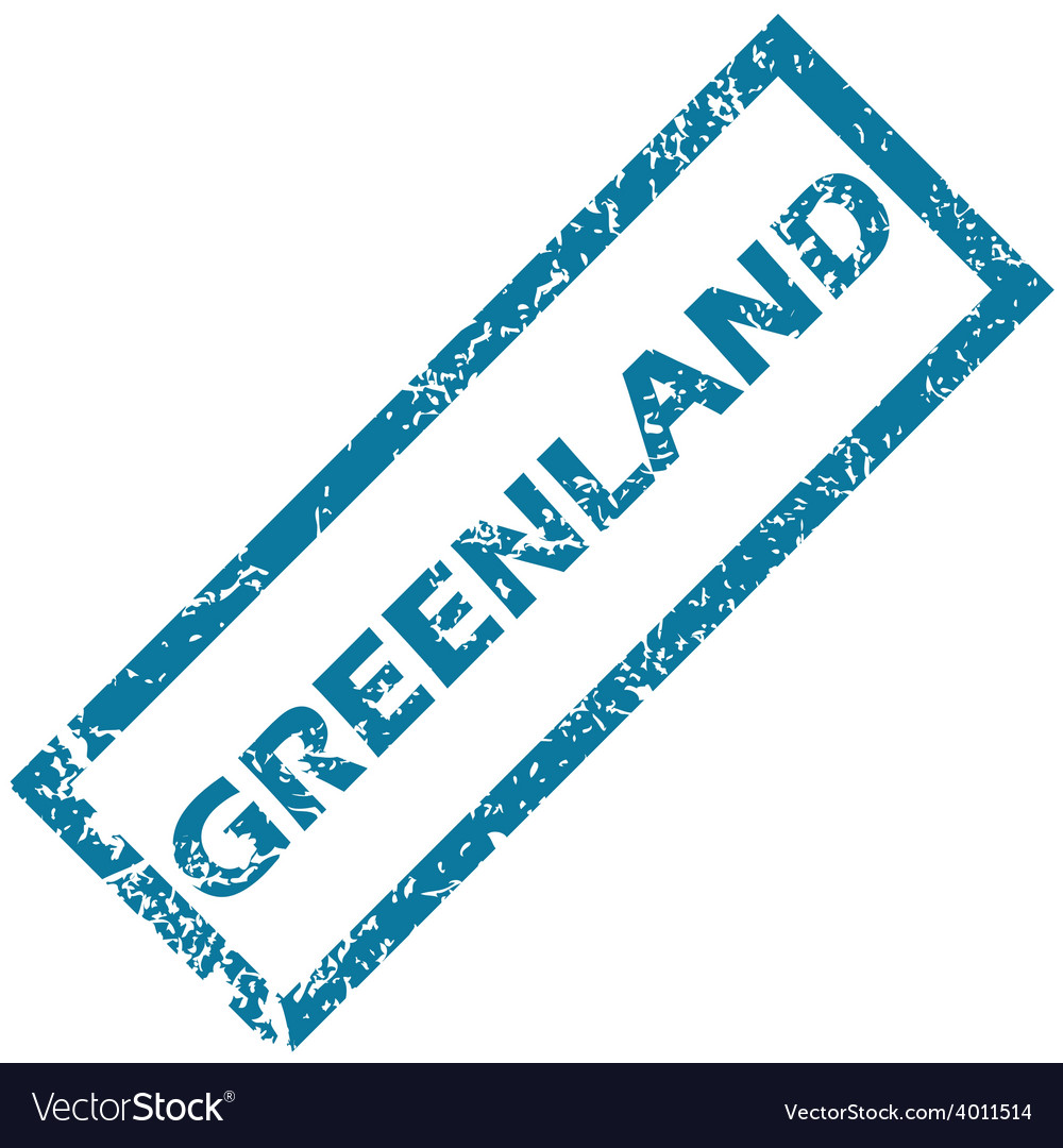 Greenland rubber stamp vector | Price: 1 Credit (USD $1)