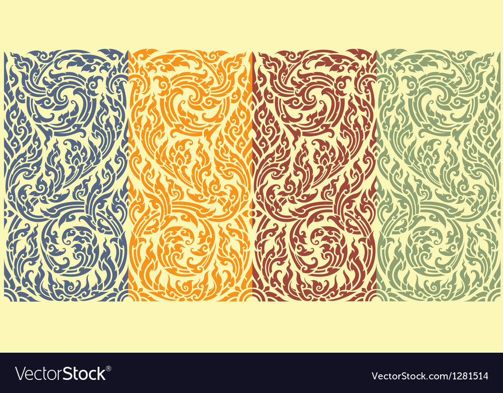 Horizontal seamless pattern vector | Price: 1 Credit (USD $1)
