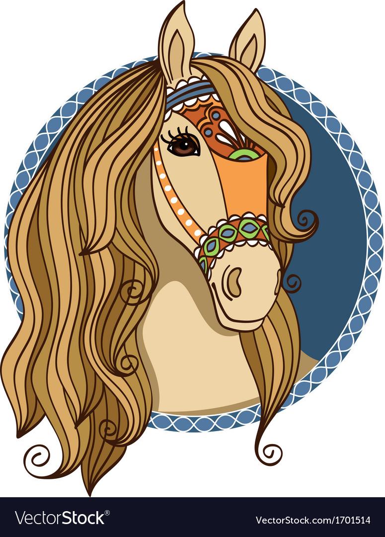Horse head vector | Price: 1 Credit (USD $1)