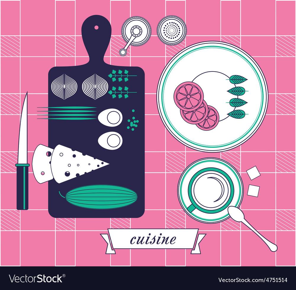 Kitchen still life set vector | Price: 1 Credit (USD $1)
