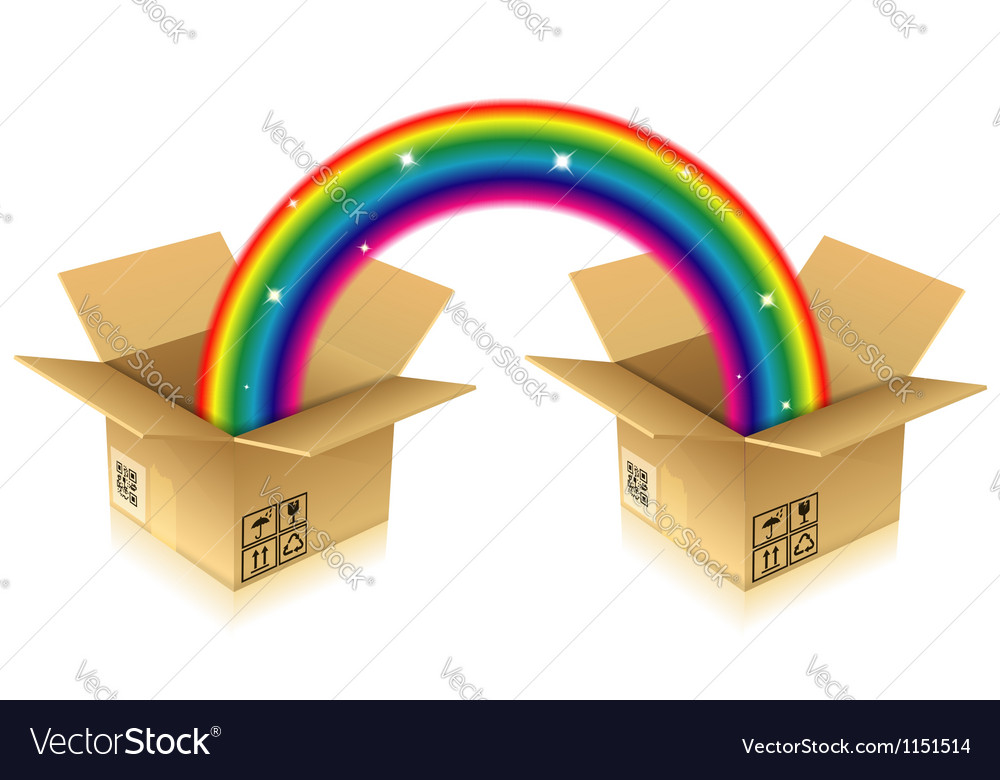 Rainbow from box vector | Price: 1 Credit (USD $1)