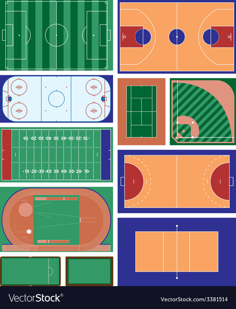 Sport fields vector | Price: 1 Credit (USD $1)