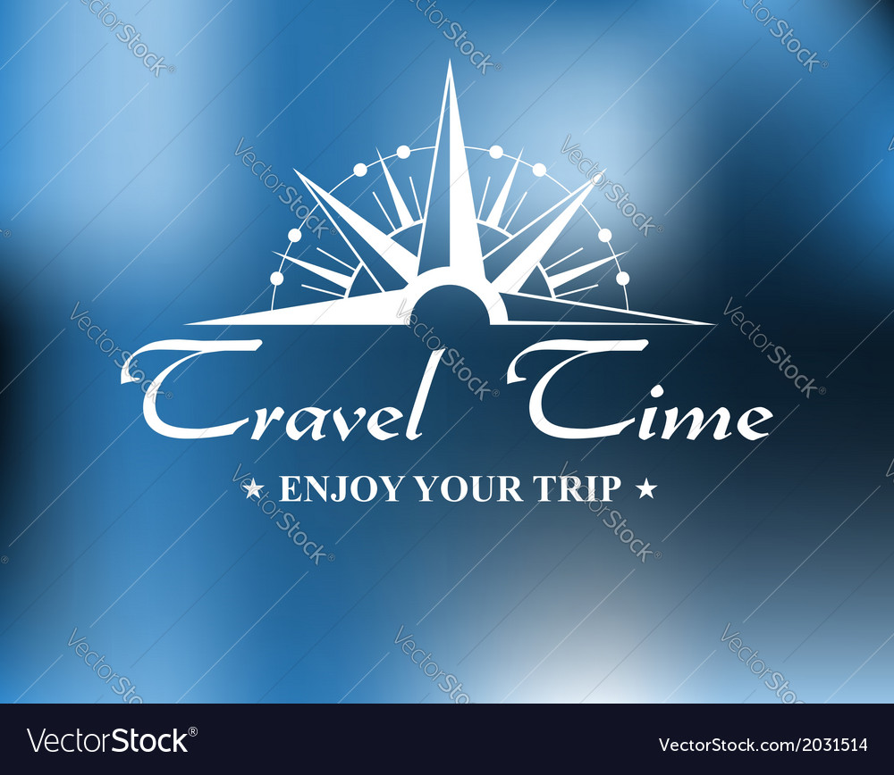 Travel header with compass vector | Price: 1 Credit (USD $1)