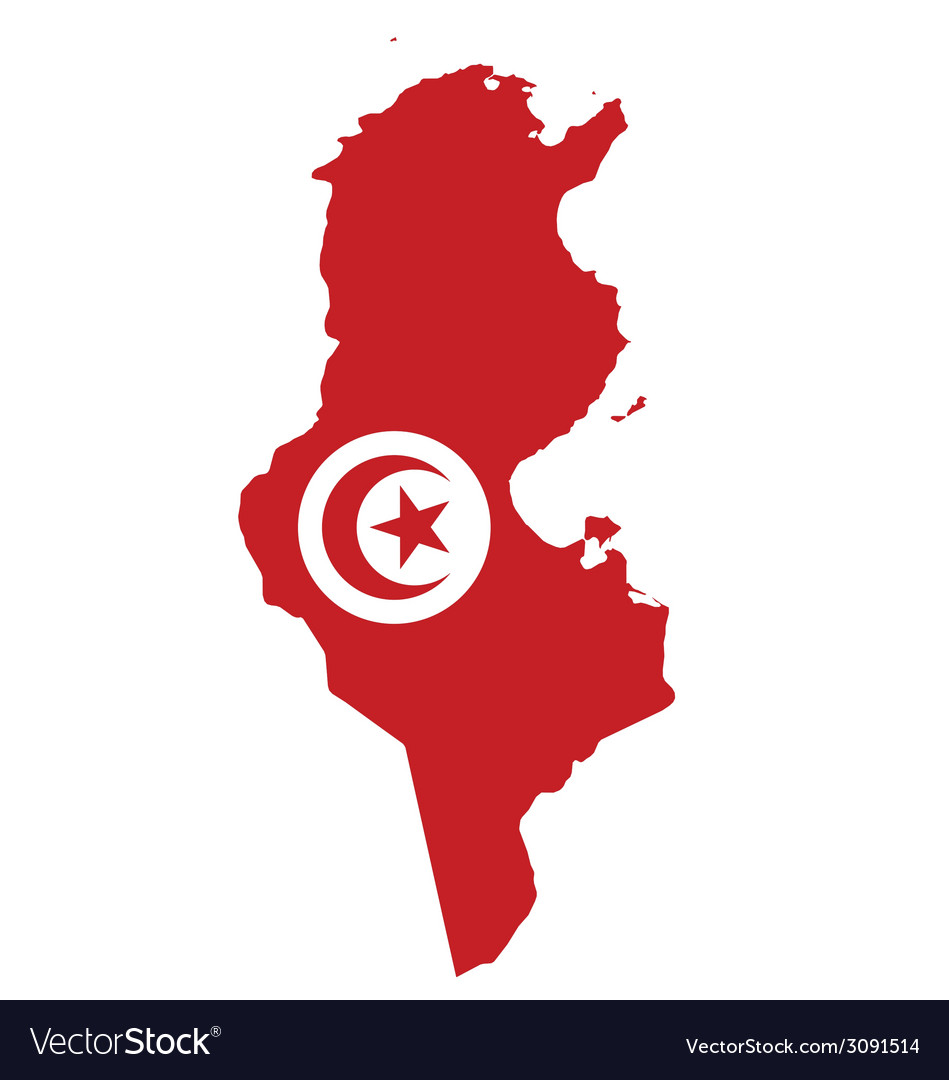 Tunisia flag vector | Price: 1 Credit (USD $1)