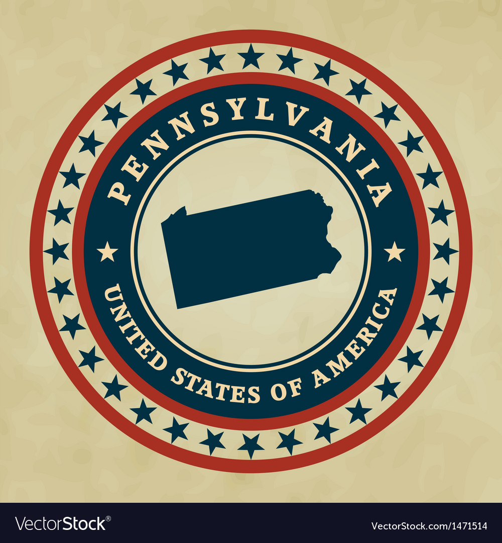 Vintage label pennsylvania vector | Price: 1 Credit (USD $1)