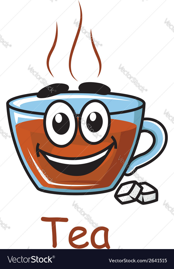 Cartoon tea cup vector | Price: 1 Credit (USD $1)