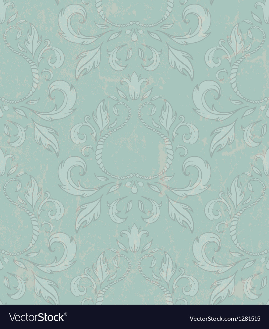 Damask seamless wallpaper with grunge effect vector | Price: 1 Credit (USD $1)