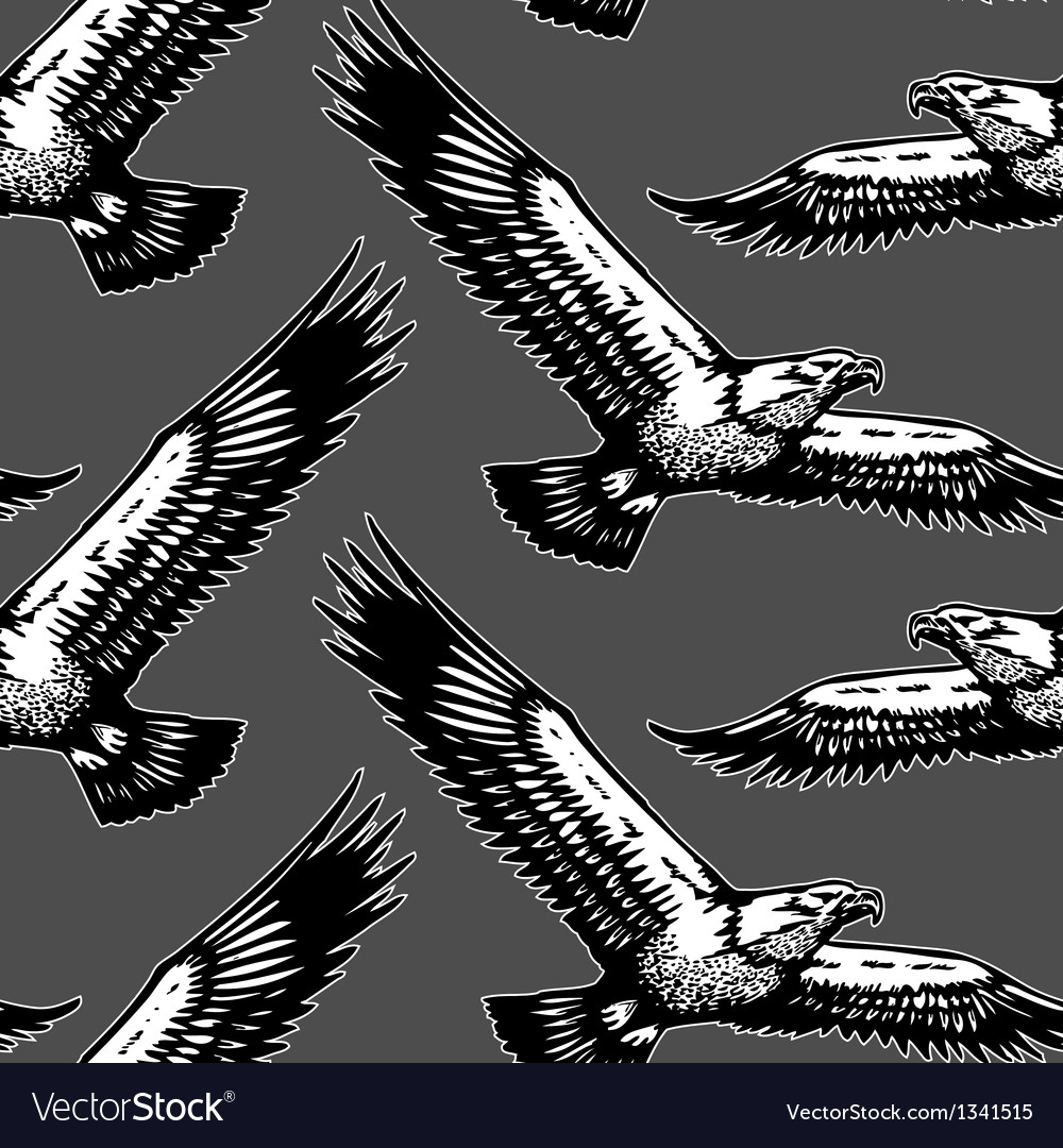 Eagles seamless pattern vector | Price: 1 Credit (USD $1)