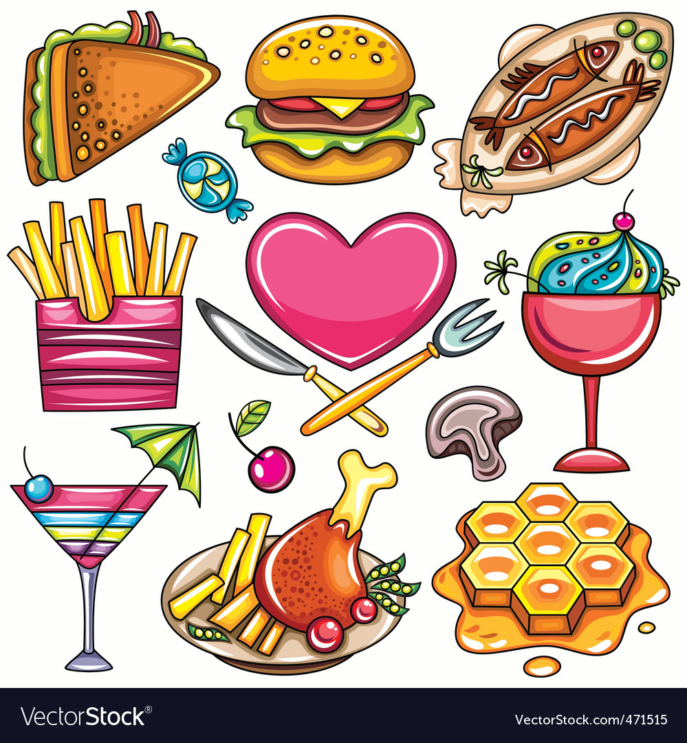 Food icons vector | Price: 3 Credit (USD $3)