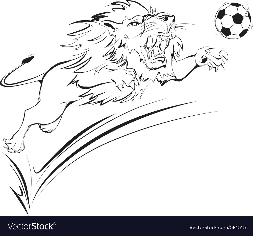Furious lion vector | Price: 1 Credit (USD $1)