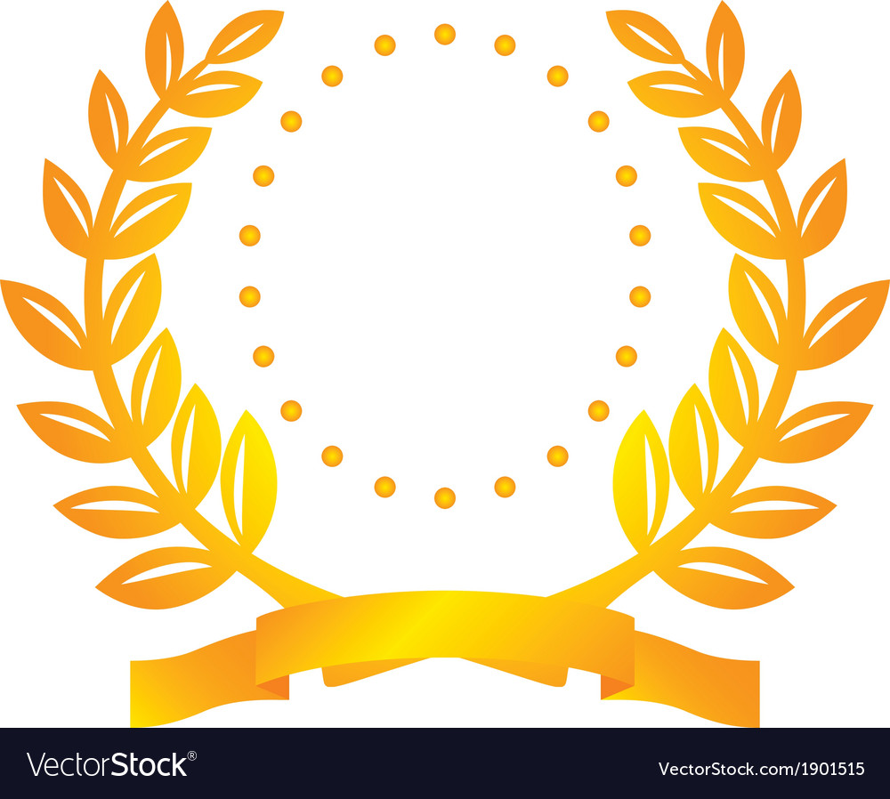Laurel wreath and circles vector | Price: 1 Credit (USD $1)