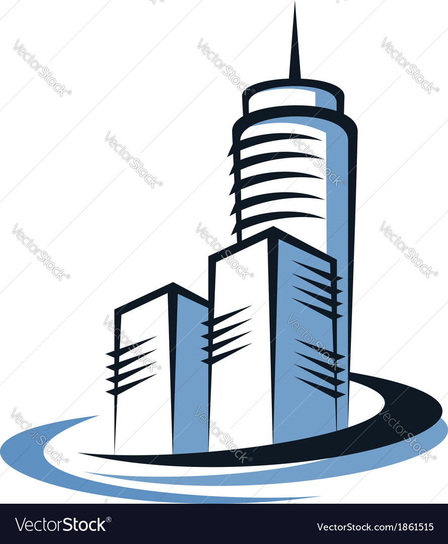 Modern skyscraper vector | Price: 1 Credit (USD $1)