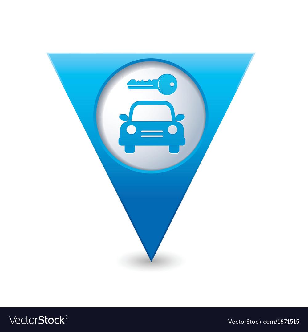 Parking symbol map pointer blue vector   Price: 1 Credit (USD $1)