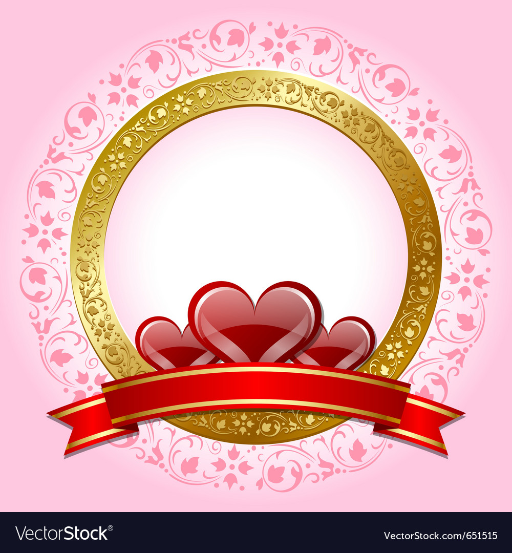 Valentines day plaque vector | Price: 1 Credit (USD $1)