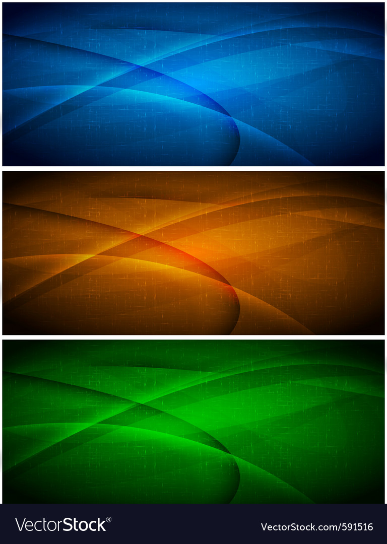 Abstract wavy banners vector | Price: 1 Credit (USD $1)