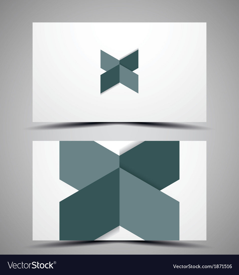 Cmyk business card design template vector | Price: 1 Credit (USD $1)