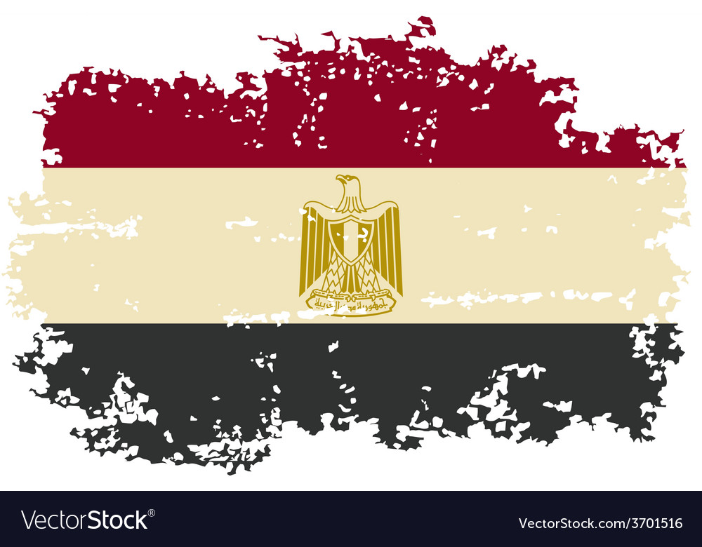 Egyptian grunge flag vector | Price: 1 Credit (USD $1)