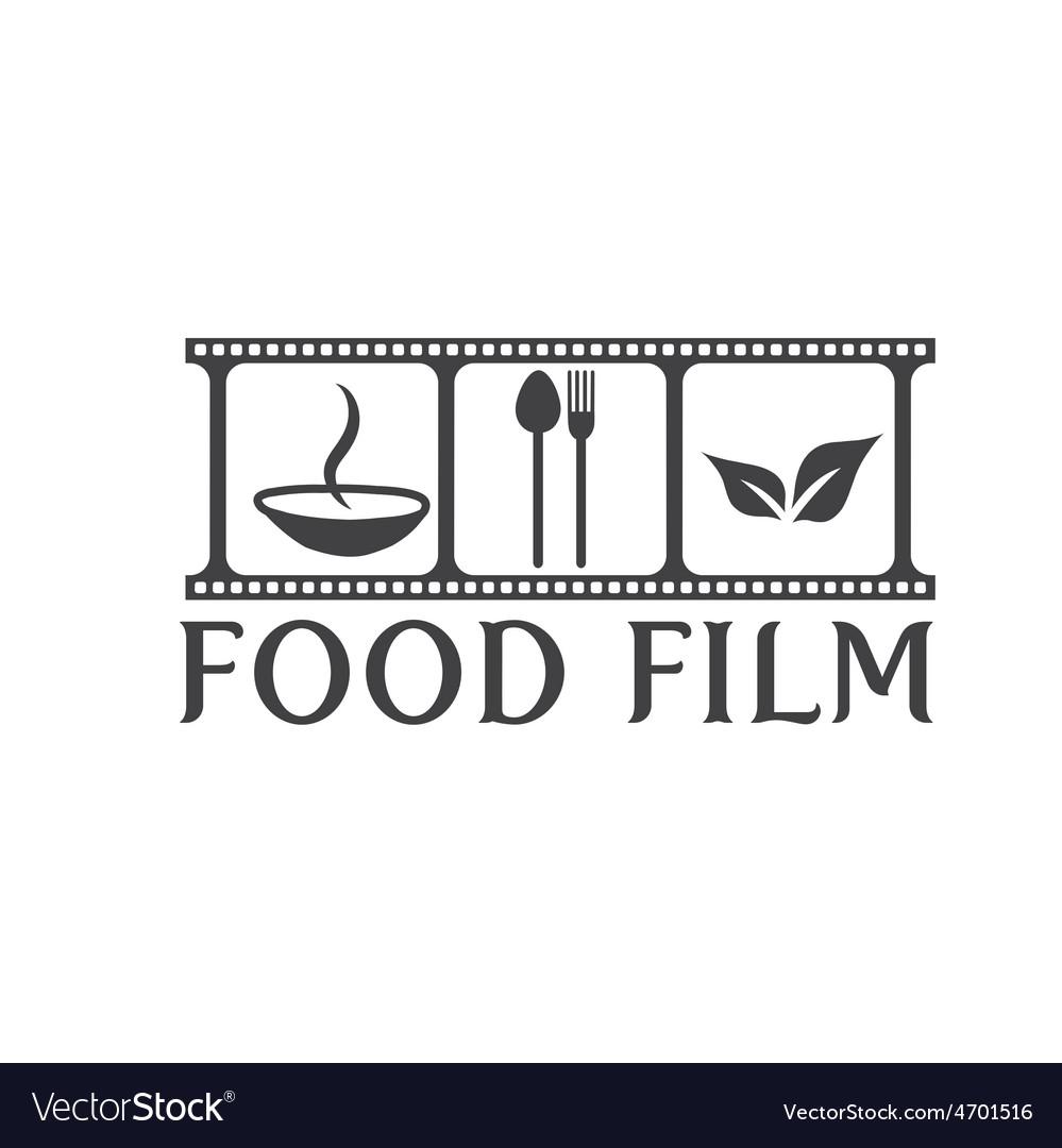 Food film concept design template vector | Price: 1 Credit (USD $1)