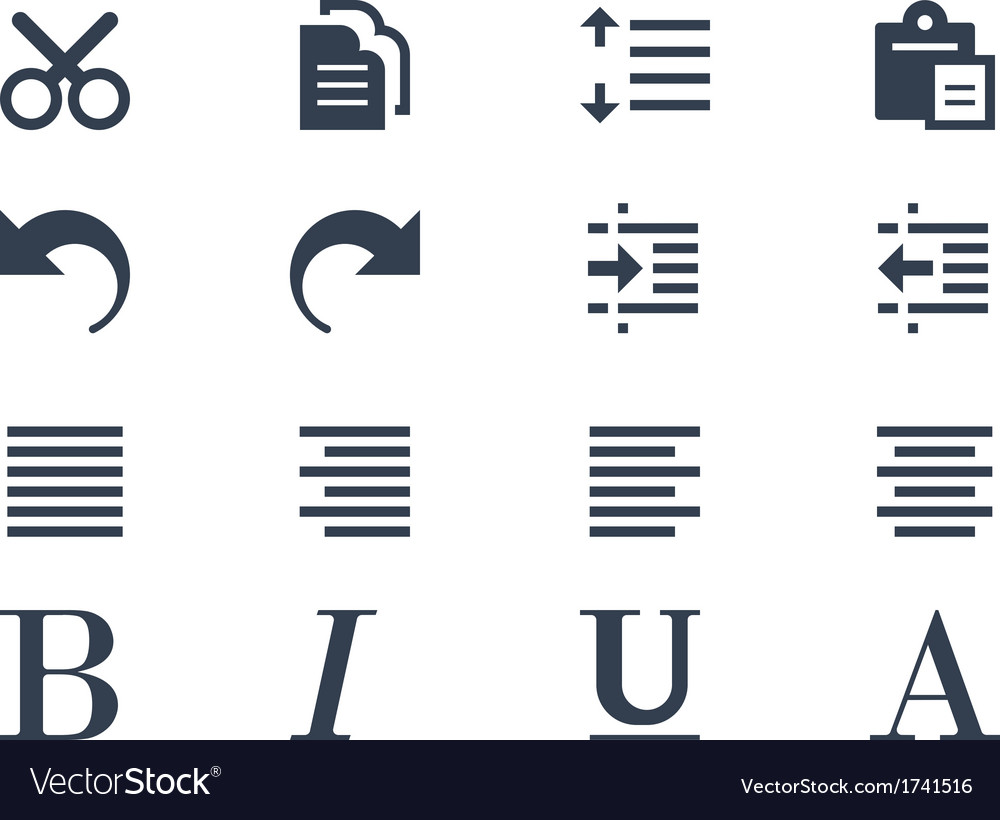 Format and editing icons vector | Price: 1 Credit (USD $1)