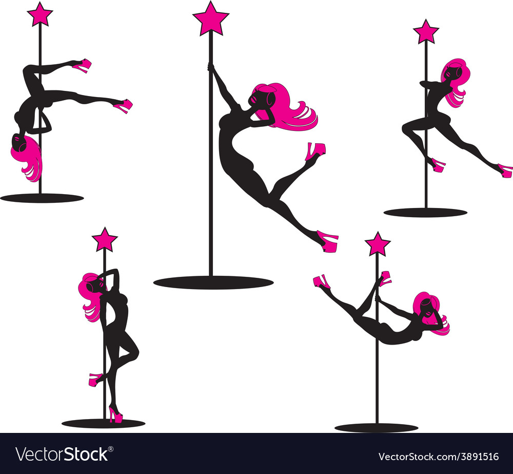 Glamourous pole dancers vector | Price: 1 Credit (USD $1)