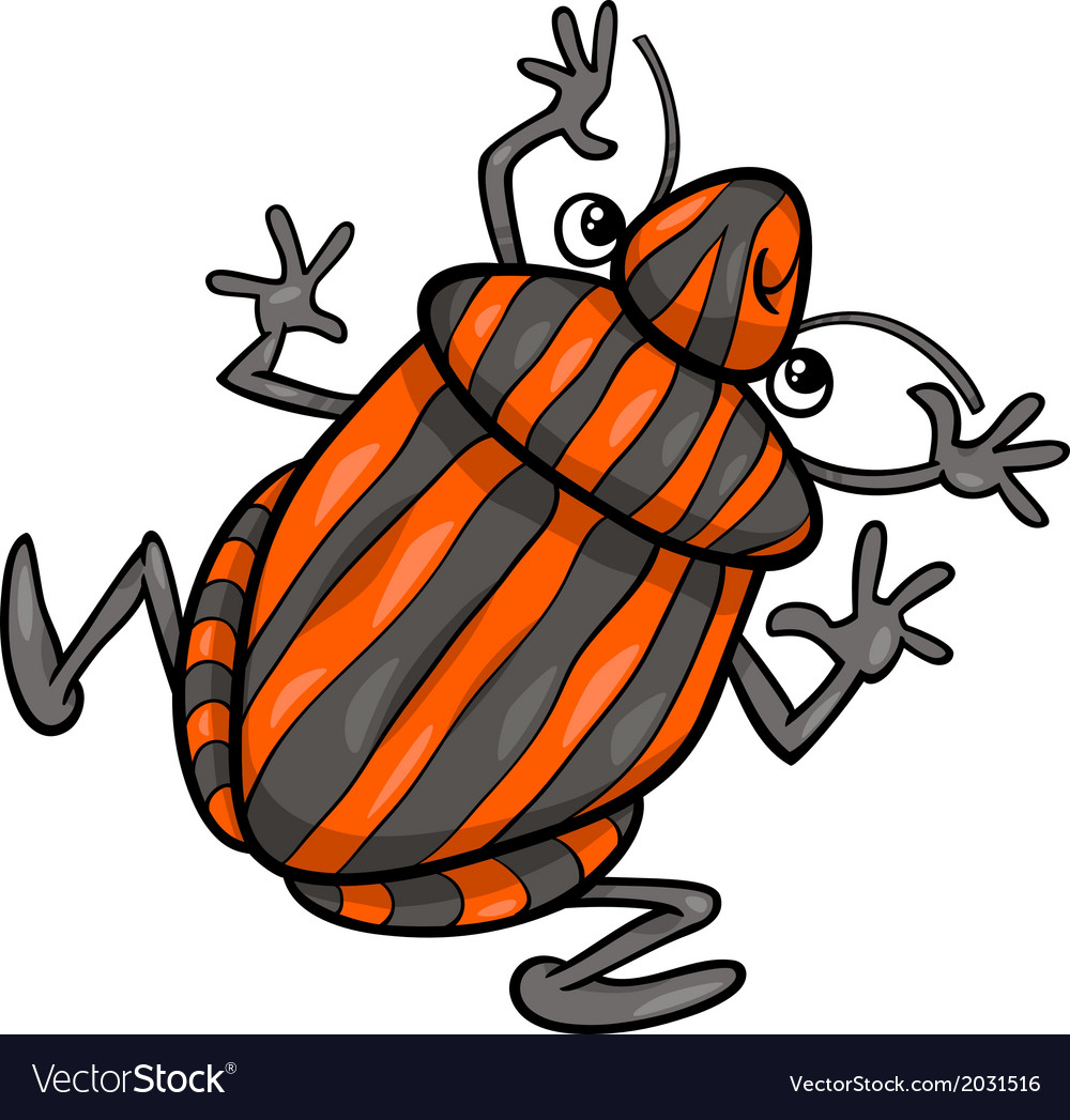 Shield bug insect cartoon character vector | Price: 1 Credit (USD $1)