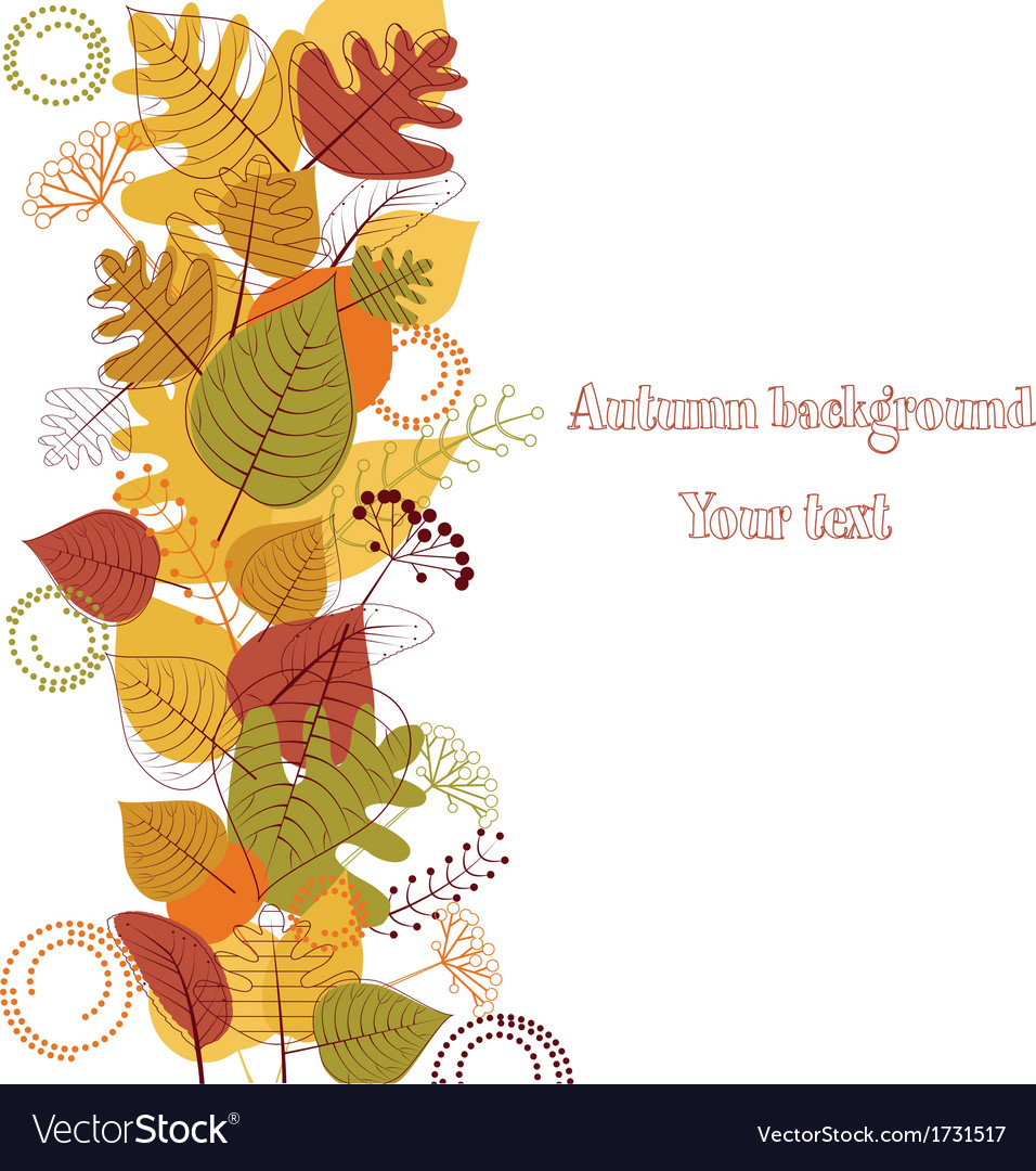 Autumn background from leaves vector   Price: 1 Credit (USD $1)