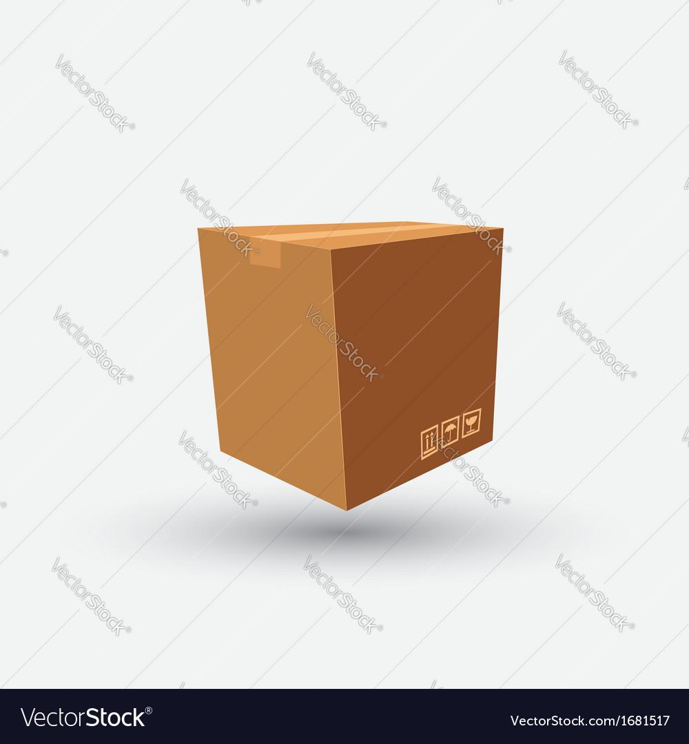 Brown box vector   Price: 1 Credit (USD $1)