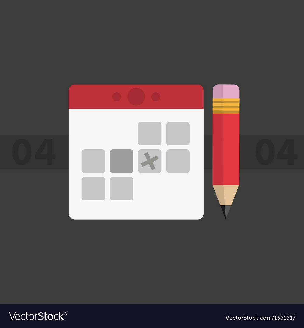 Calendar minimalism vector | Price: 1 Credit (USD $1)