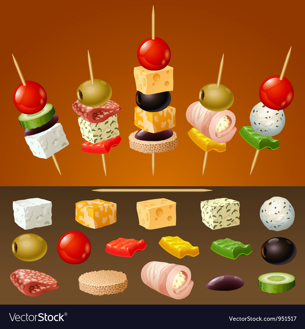 Canapes vector | Price: 3 Credit (USD $3)