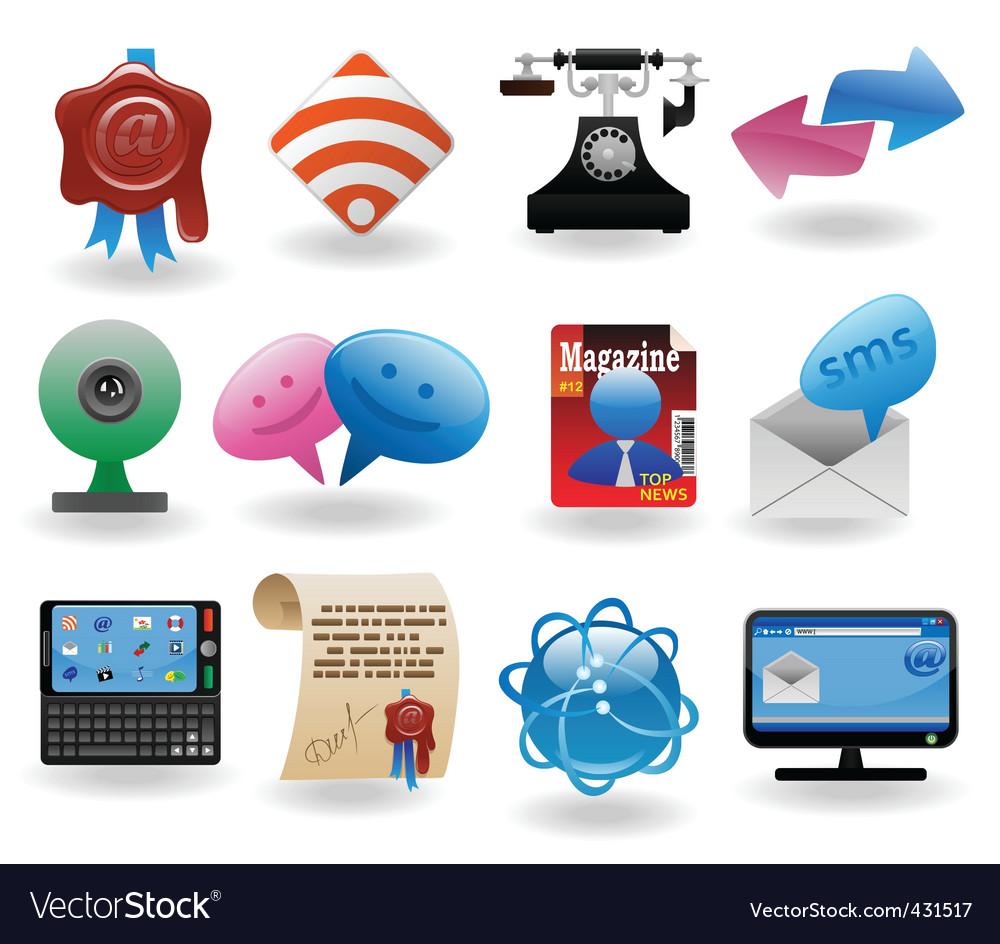 Communication set2 vector | Price: 1 Credit (USD $1)