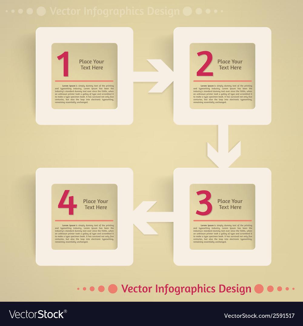 Flat infographics design background vector | Price: 1 Credit (USD $1)