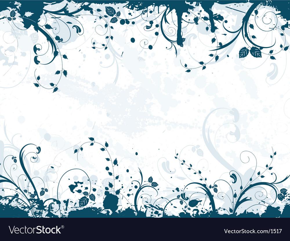 Floral grunge vector | Price: 1 Credit (USD $1)