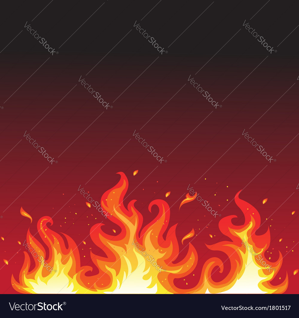 Hot fire on black vector | Price: 1 Credit (USD $1)