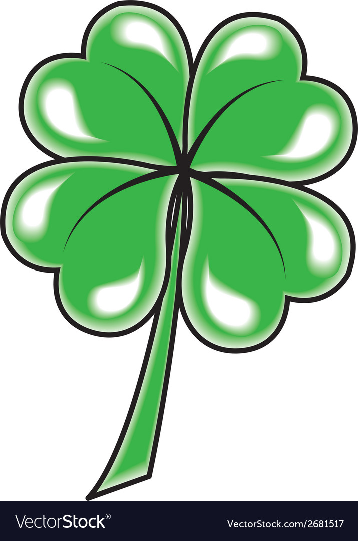 Leaf clover icon object on white background vector | Price: 1 Credit (USD $1)