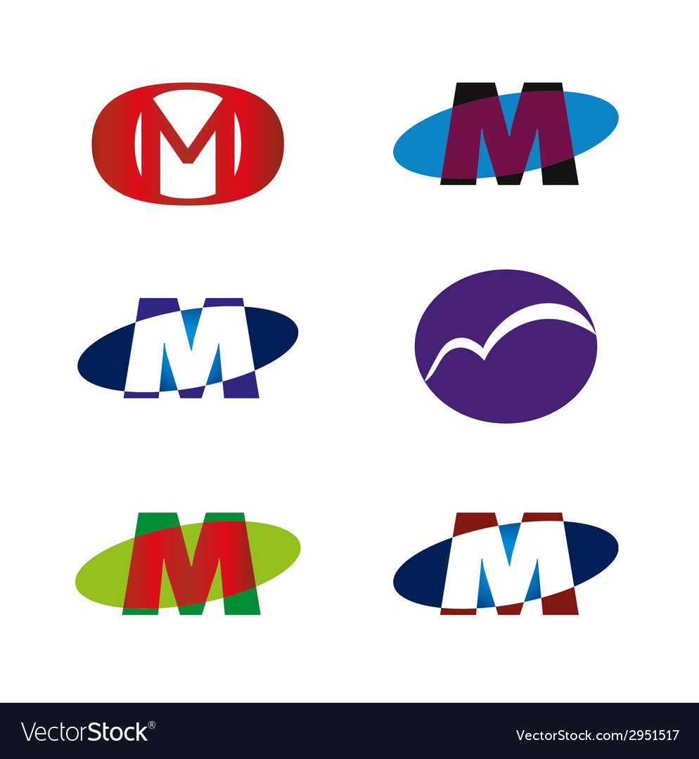 Letter m icon template element vector   Price: 1 Credit (USD $1)