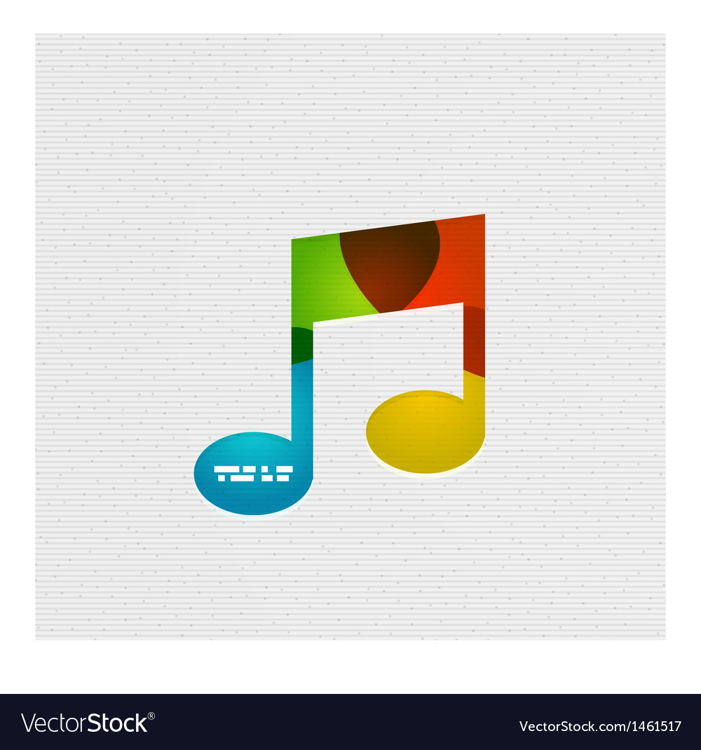 Modern paper design music concept vector | Price: 1 Credit (USD $1)