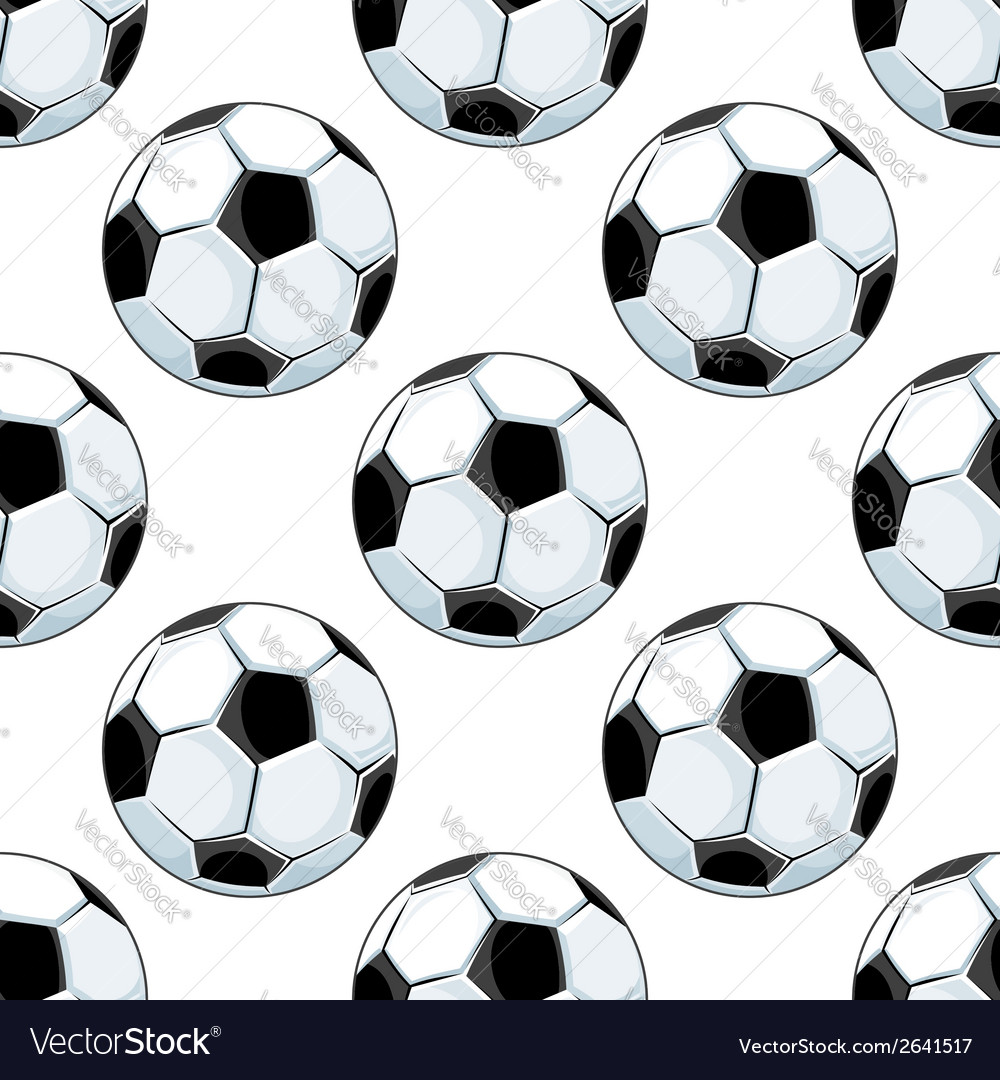 Seamless background pattern of soccer balls vector | Price: 1 Credit (USD $1)
