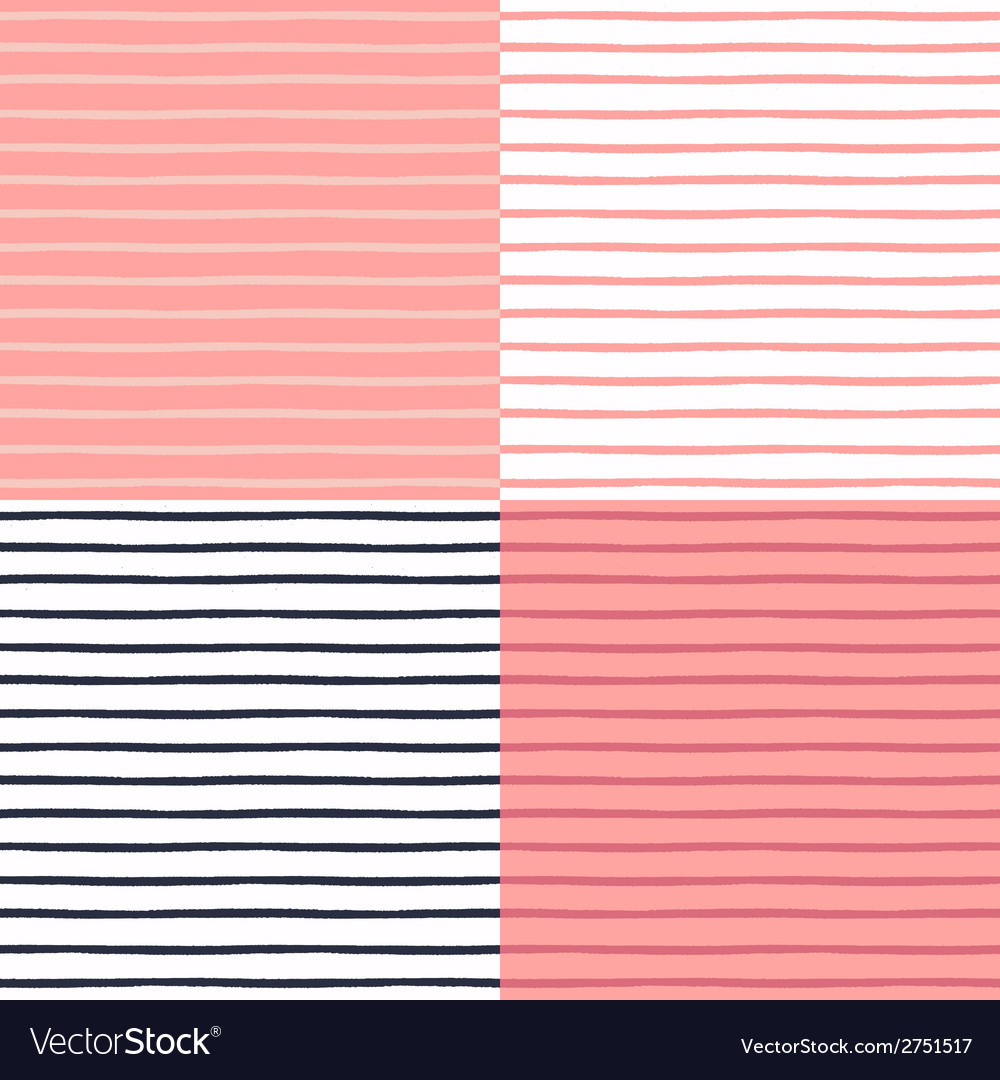 Seamless patterns set with painted stripes vector | Price: 1 Credit (USD $1)