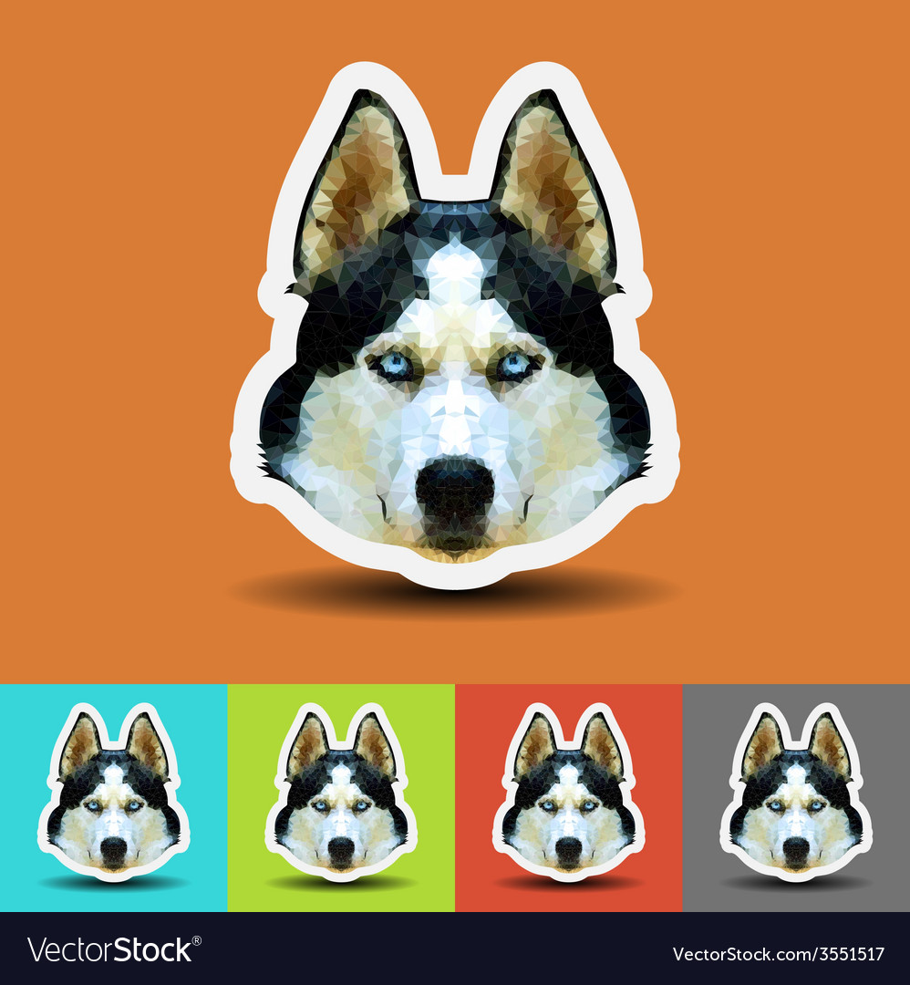 Siberian husky polygon geometric vector | Price: 1 Credit (USD $1)