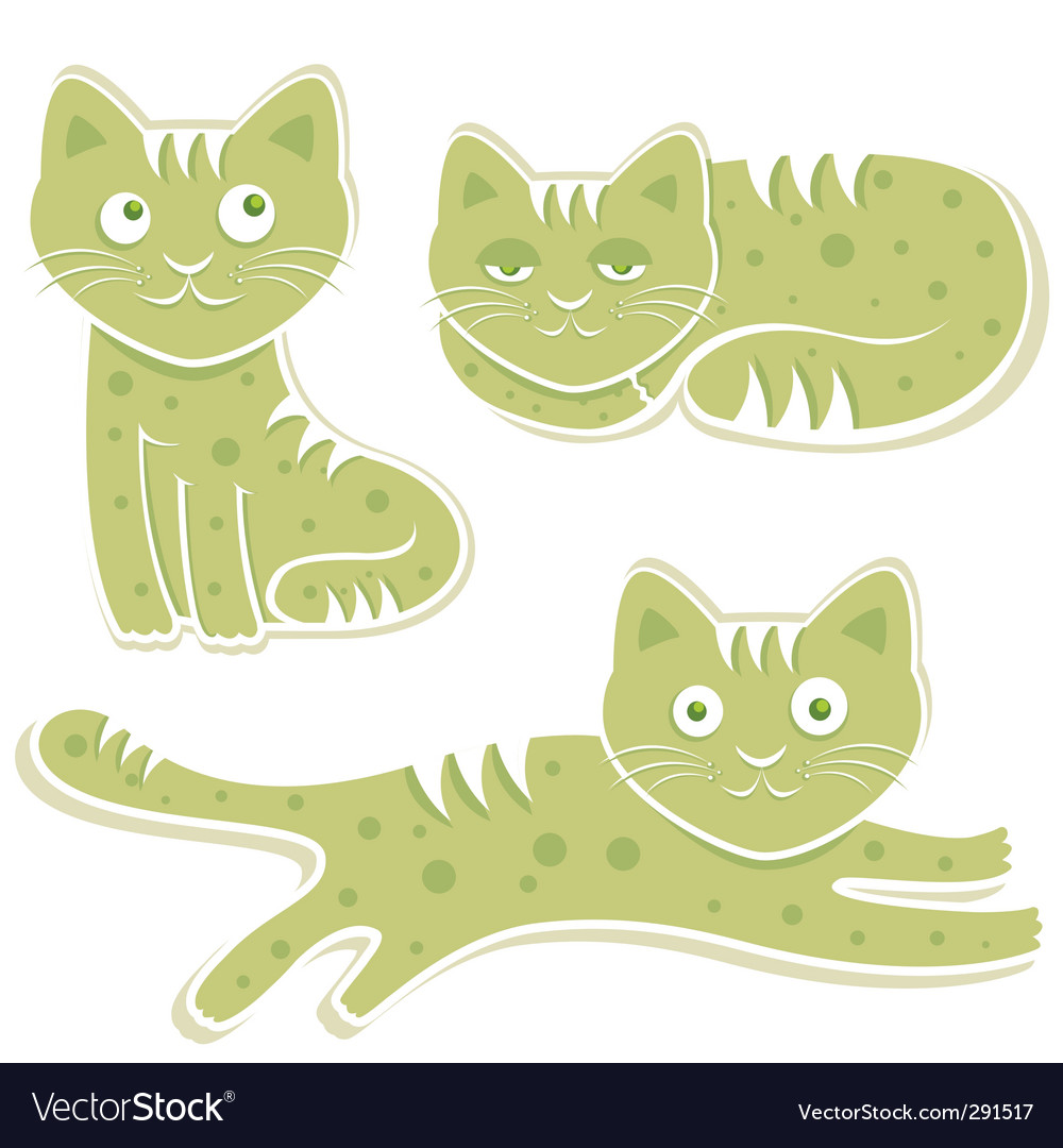Sweet cats vector | Price: 1 Credit (USD $1)