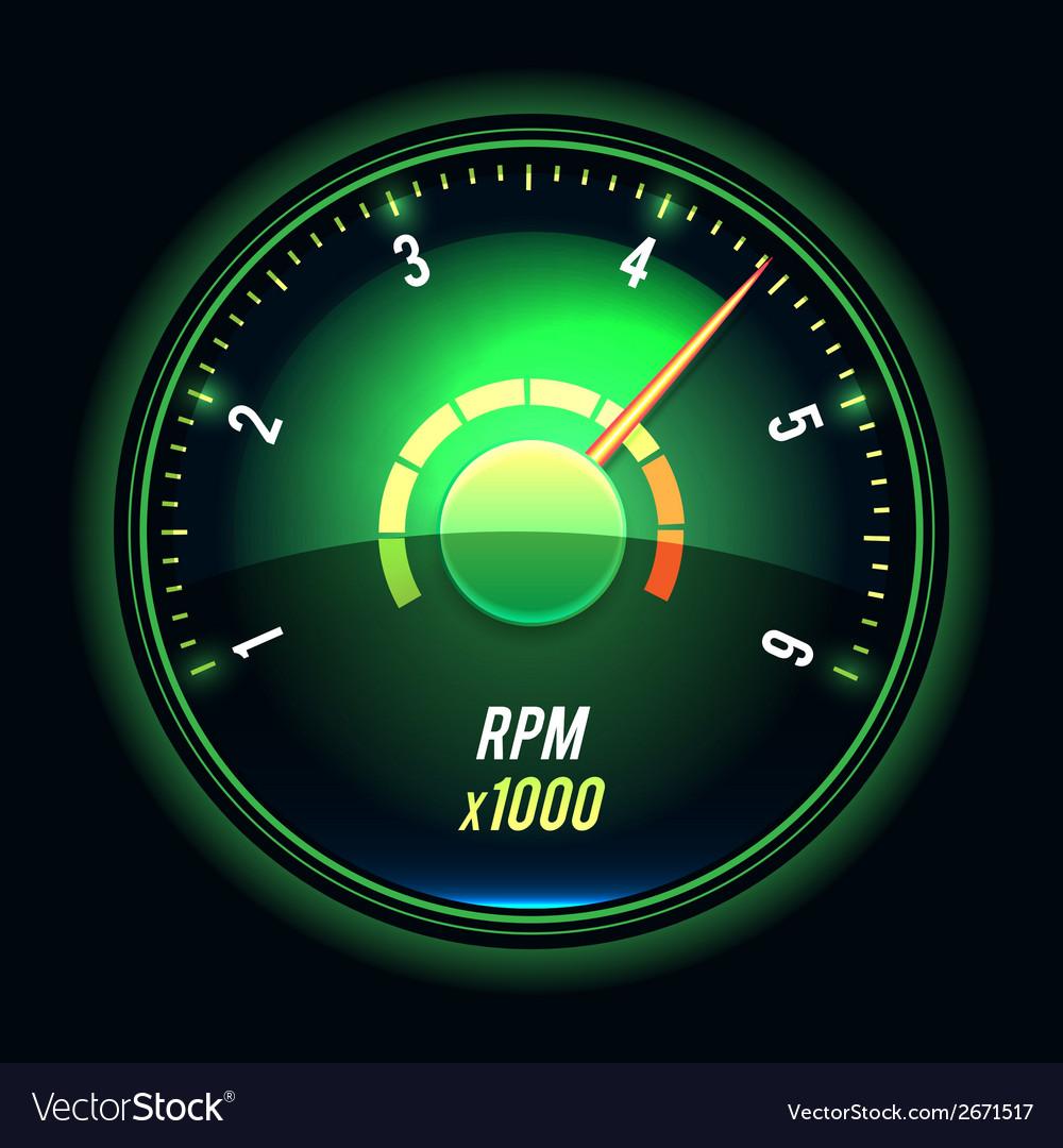 Tachometer vector | Price: 1 Credit (USD $1)
