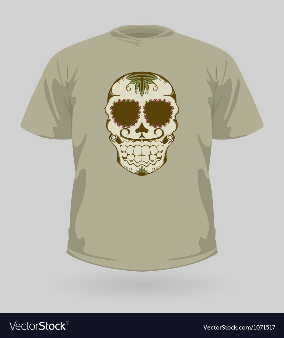 T-shirt with tribal sugar skull vector | Price: 1 Credit (USD $1)
