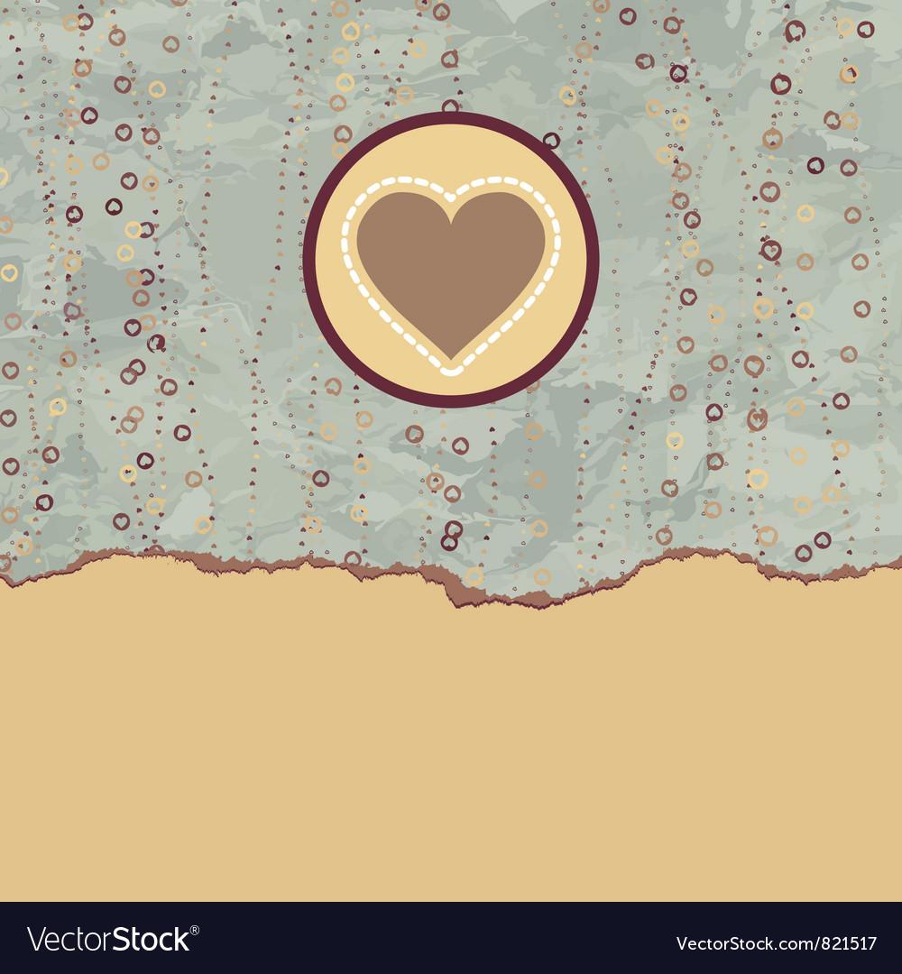 Valentine heart card vector | Price: 1 Credit (USD $1)