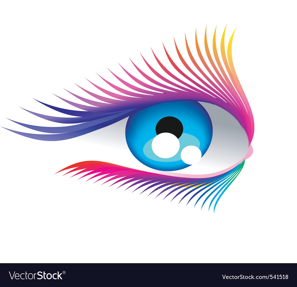 Abstract eyelashes vector | Price: 1 Credit (USD $1)