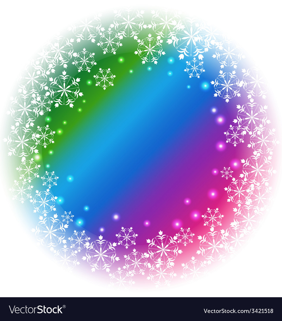 Abstract snowflakes on colorful background vector | Price: 1 Credit (USD $1)