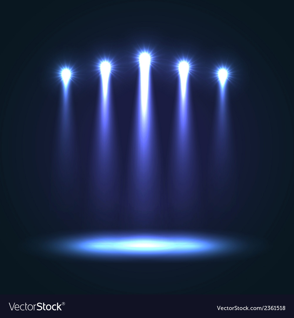 Background with group bright spotlights vector | Price: 1 Credit (USD $1)