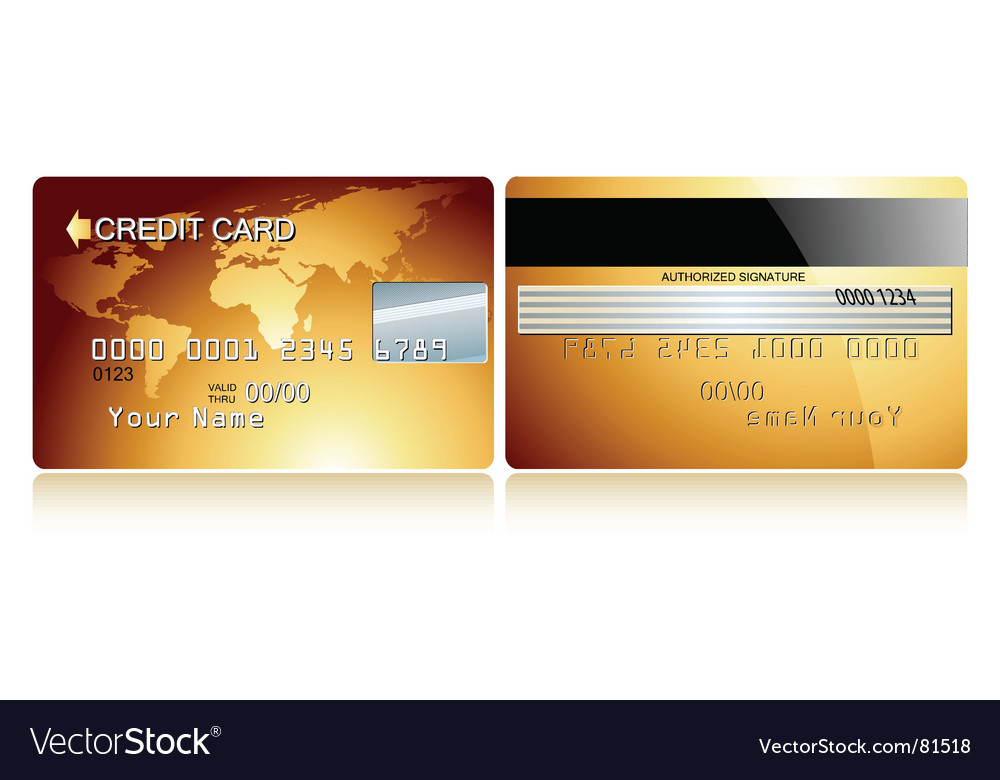 Card credit design vector | Price: 1 Credit (USD $1)