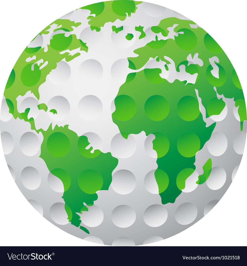 Isolated golf earth vector | Price: 1 Credit (USD $1)
