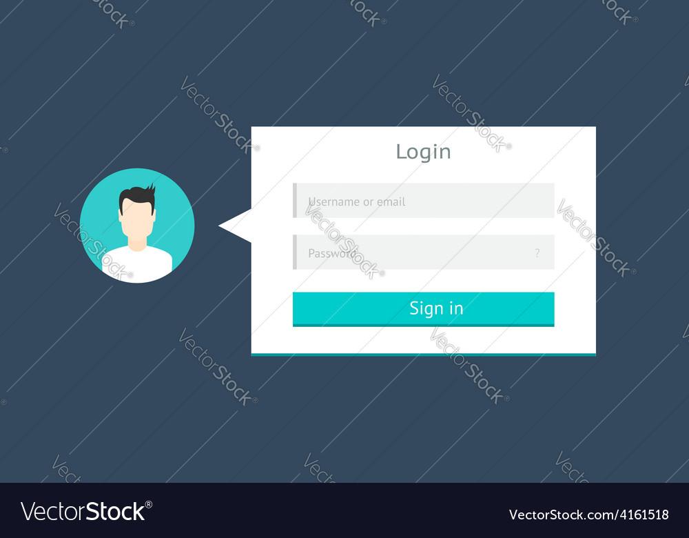 Login form vector   Price: 1 Credit (USD $1)